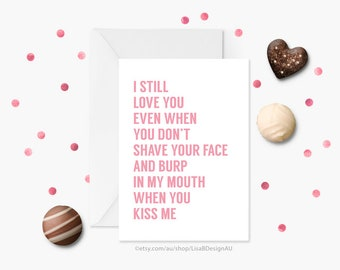Anniversary Card | Funny Valentine Card | Couples Valentine | Card for Boyfriend | Card for Him | Card for Husband | GCLACA6017