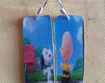 Snoopy Plexiglas Earrings