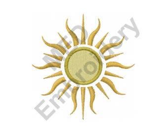 Sun - Machine Embroidery Design