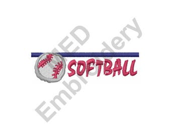 Softball - Machine Embroidery Design