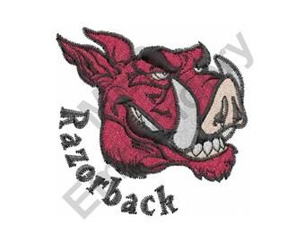 Razorback - Machine Embroidery Design, Mascot