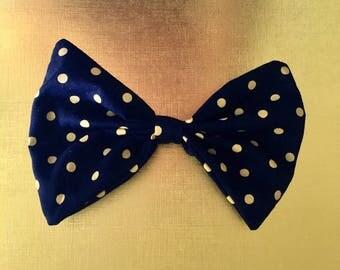 Black & yellow polka dot hair bow , Yellow Polka dot Hair bow, big hair bow, pinwheel bow, polka dot bows, Large yellow hair bow