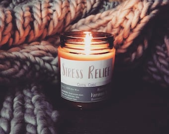 Stress Relief | Crystal Candle