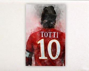 Totti - soccer prints, soccer posters, sport posters, sport prints, wall decor, wall prints, francesco totti | Tropparoba 100% made in Italy