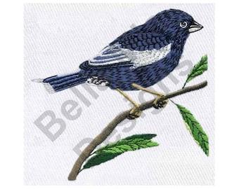Lark Bunting - Machine Embroidery Design, Bird Embroidery