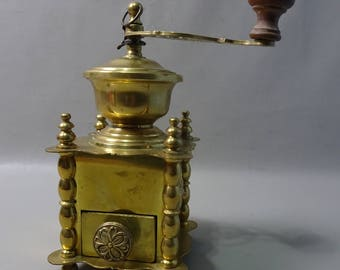 Yellow Copper Coffee grinder-France 1900s