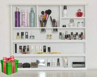 XLarge Wall Makeup Organizer Bathroom Storage Lipstick Organizern Nail  Polish Rack Rangement