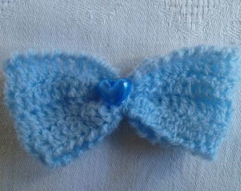 bow tie crocheted soft wool