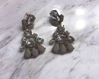 Statement Gray Earrings