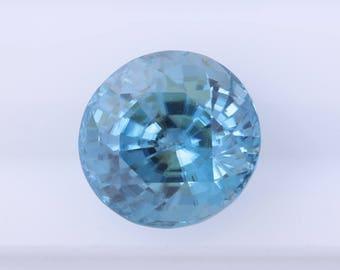 10.10 ct Round Blue Zircon, Natural Blue Zircon, Loose Blue Zircon, Natural Loose Gemstone, Loose Zircon, Natural Zircon Gem, Quality Gem