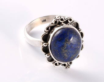 Lapis 92.5 sterling silver ring size 7us