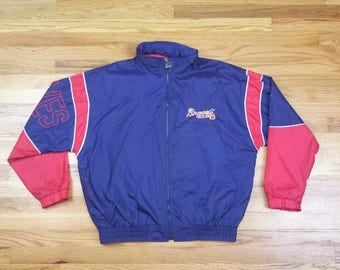 Vintage 90s Atlanta Braves Starter Jacket Windbreaker Size Large L