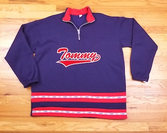 Vintage 90s Tommy Sports Jacket Pullover Hilfiger Spell Out Size large