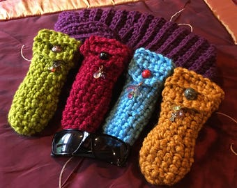 Crocheted Eye Glasses Case