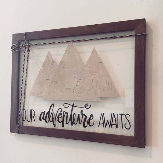 Our Adventure Awaits Sign