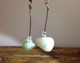 Earrings with natural stones (agathes)