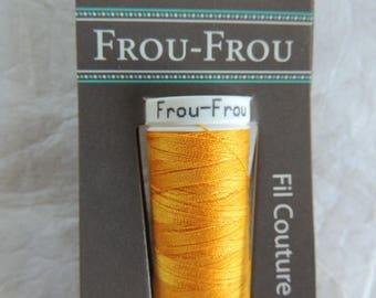 All textiles Frou-Frou yellow sewing thread