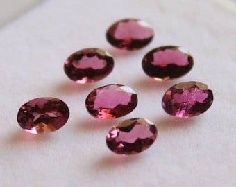 4x6 mm AAA Pink Tourmaline Oval Faceted - Top Grade Gemstone AAA Quality