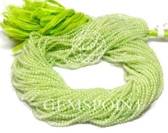 5 Strands Natural Prehnite 2-2.5mm Micro Faceted Roundels, 13 inch Strand, Prehnite Small Rondelle Beads (R-PRE-0008)