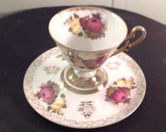 Castle hand painted tea cup