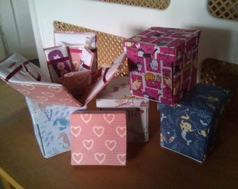 Square Etui Sewing Box