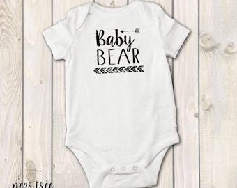 Baby Bear - baby bodysuit - Black vinyl