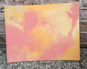 Tie Dye Clouds Painting