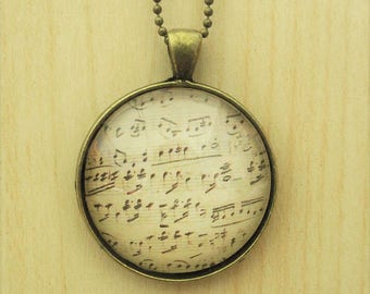 Sheet Music Necklace