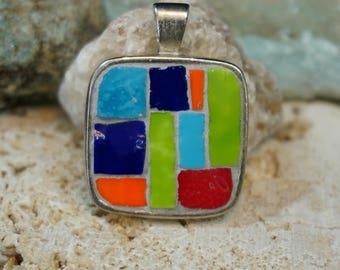 Mosaic Smalti Colors Pendant