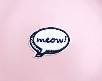 Say Meow | Iron on Patch - Pigeon wishes