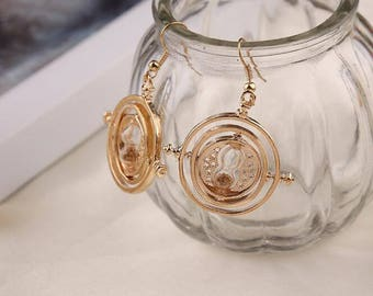 Special offer price! Harry Potter time turner snitch deathly hollows earrings dangle earring