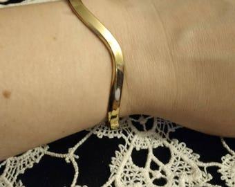 Vintage Sergio Lub Bracelet Cuff! Elegant Wave Design/Stamped