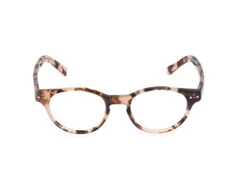 Classic 1940s style HANDMADE spectacles 'MILLER' in Vintage Brown for men & women. Unique double layer Italian acetate.Rx Frame or readers