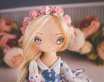 Princess Carly doll textile, art doll, ooak, doll interior artdoll ,