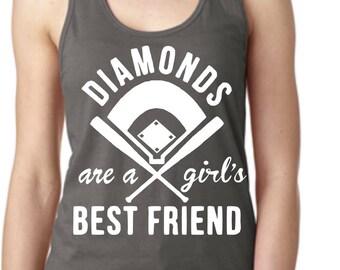 DIAMONDS are a girls BEST FRIEND Racerback Tank