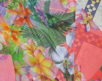 Pink floral kimono M