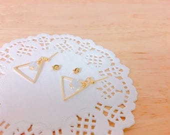 Triangle Square cubic Eearings