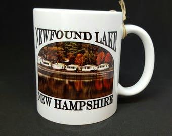 Newfound Lake Cottages Coffee Mug, Frosted Mug, Mason Jar