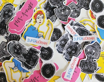 Pack Stickers / Girl Power / Feminist set / 6 STICKERS