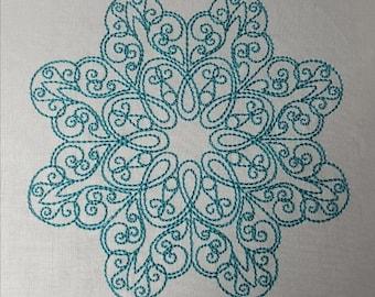 "Embroidery File ""Snowflake"" (Hoop 4"" x 4"")"