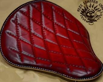Handmade Bobber Seat handsewn Red