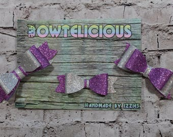 3pc Bow Hair Clips Handmade By IZZIES Set