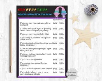 Baby Shower Old Wives Tales Game Trolls | Trolls Baby Shower Old Wives Tales Game | Trolls Game