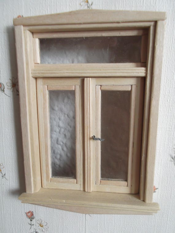 Fenster m oberlicht fensterbank u echtglas f puppenstube - Fenster ohne fensterbank ...