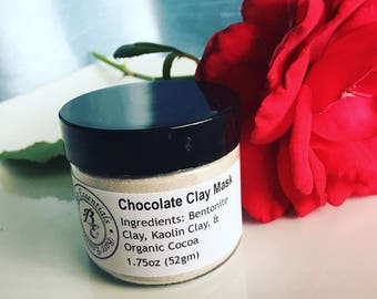 Premium Chocolate Clay Face Mask Powder