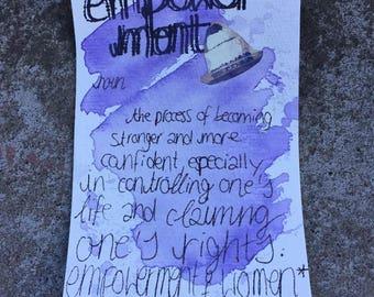 empowerment / feminist postcard