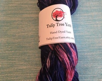 Hand Dyed Sock Yarn - Clematis