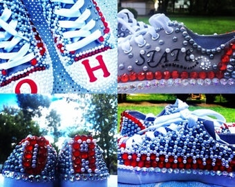 Ohio State shoes, OSU, Buckeyes, Shoes, College Football, Bling Shoes, Unisex Shoes, Womens shoes, Football