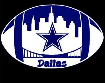 Cowboys , Cowboy decals , cowboy stickers, football , football decal, football sticker , gift for her, gift for him , car decal, yeti decal