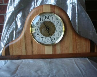 Custom Handmade Butcher Block Style Mantle Clock